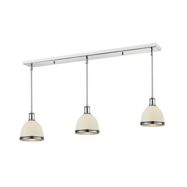 Z-Lite Mason 3-light Kitchen Island Light - Chrome