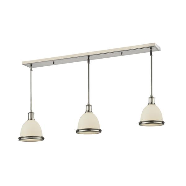 Z-Lite Mason 3-light Kitchen Island Light - Nickel