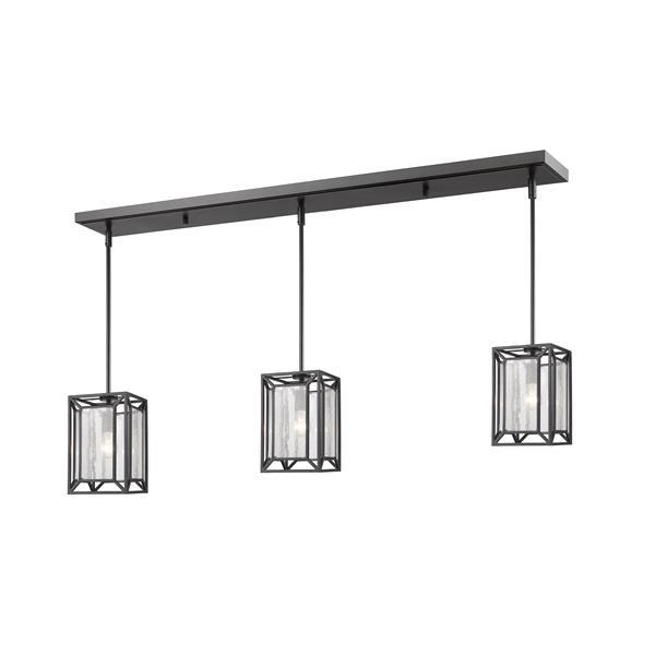 Luminaire de cuisine suspendu Braum, 3 lumières, bronze