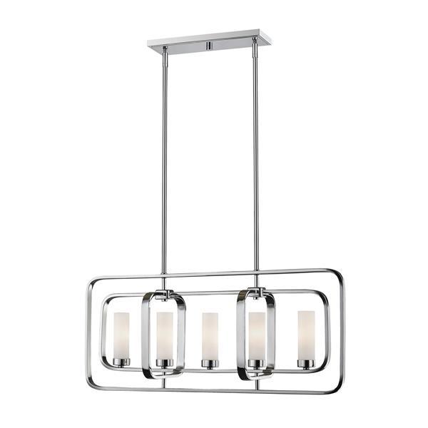 Z-Lite Aideen 5-light Kitchen Island Light - Chrome