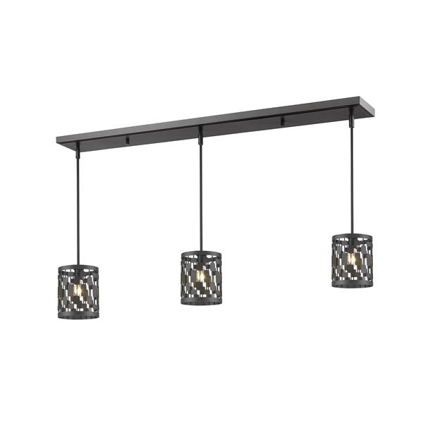 Z-Lite Almet 3-light Kitchen Island Light - Bronze