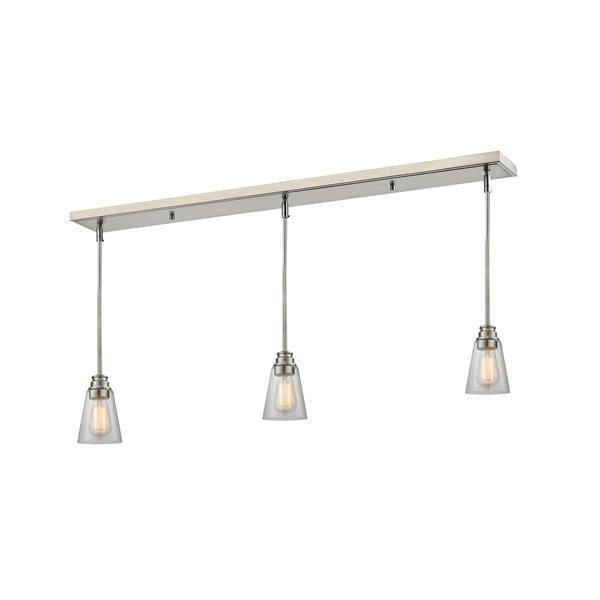 Z-Lite Annora 3-light Kitchen Island Light - Nickel