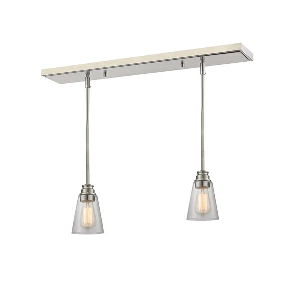 Z-Lite Annora 2-light Kitchen Island Light - Nickel