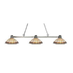 Luminaire de cuisine suspendu Park , 3 lumières, nickel