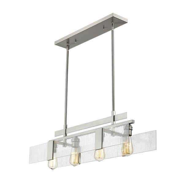 Z-Lite Gantt 4-light Kitchen Island Light - Nickel