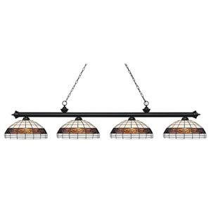 Z-Lite Riviera 4-light Kitchen Island Light - Matte Black