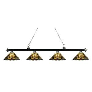 Z-Lite Riviera 4-light Kitchen Island Light - Black/Nickel