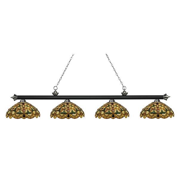 Z-Lite Riviera 4-light Kitchen Island Light - Black/Nickel