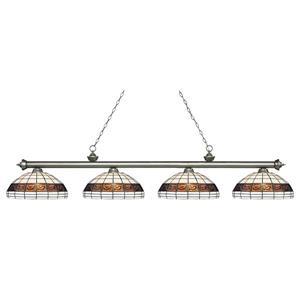 Luminaire de cuisine suspendu Riviera, 4 lumières, Argent