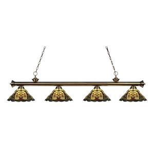 Z-Lite Riviera 4-light Kitchen Island Light - Antique Brass