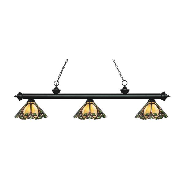 Z-Lite Riviera 3-light Kitchen Island Light - Matte Black