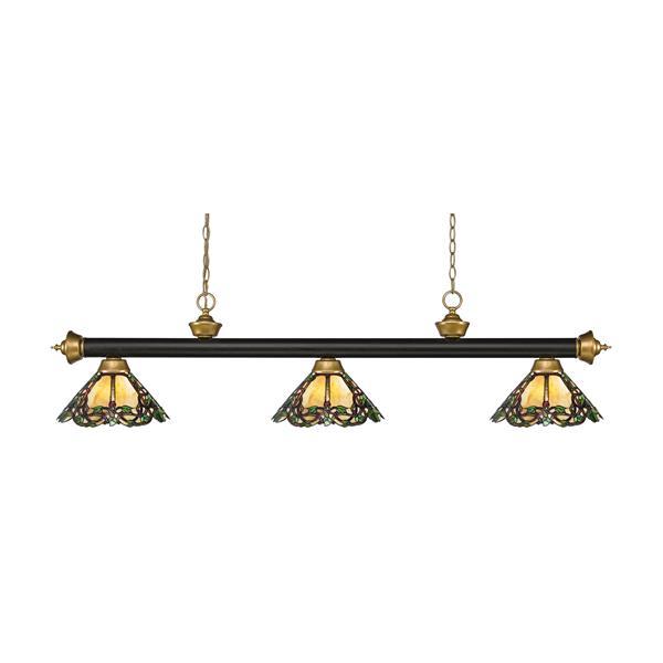 Z-Lite Riviera 3-light Kitchen Island Light - Bronze/Satin Gold