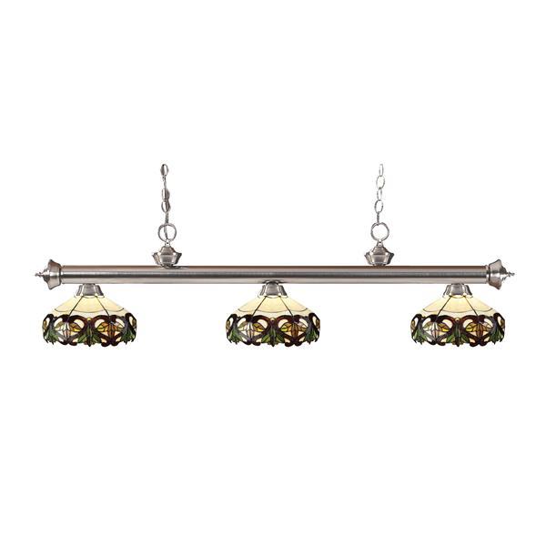 Luminaire de cuisine suspendu Riviera, 3 lumières, nickel
