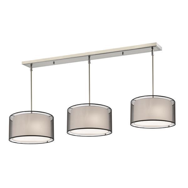 Z-Lite Sedona 9-light Kitchen Island Light - Brushed Nickel