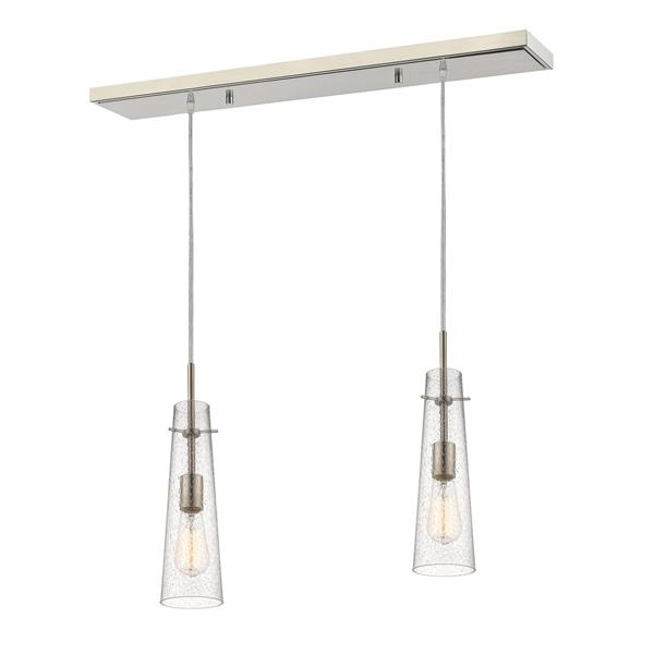 Z-Lite Monte 2-light Kitchen Island Light - Nickel