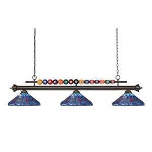 Z-Lite Shark 3-light Pool Table Light - Bronze