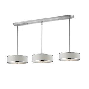 Luminaire de cuisine suspendu Cameo, 9 lumières, chrome