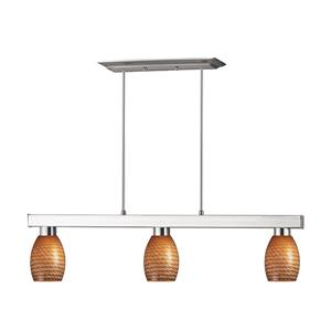 Luminaire de cuisine suspendu Players, 3 lumières, nickel