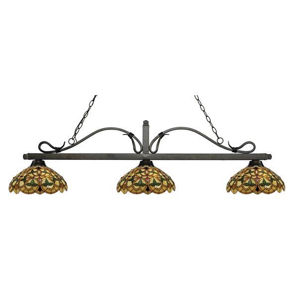 Luminaire de cuisine suspendu Melrose, 3 lumières, bronze