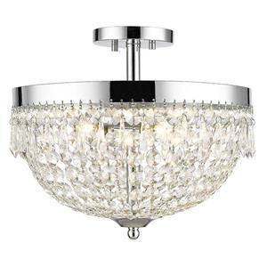 Luminaire semi-encastré «Danza», 4 lumières, chrome