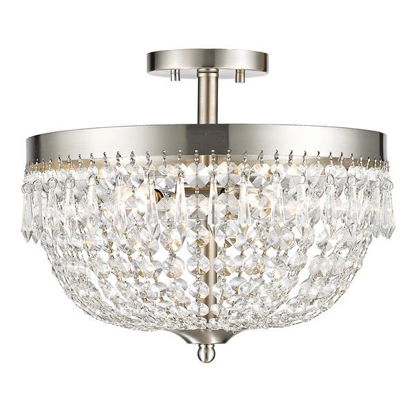 Z-Lite Danza 4-Light Semi Flush Mount - Brushed Nickel