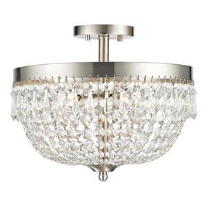 Luminaire semi-encastré «Danza», 4 lumières, nickel brossé