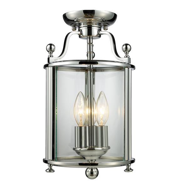 Luminaire semi-encastré «Wyndham», 3 lumières, chrome