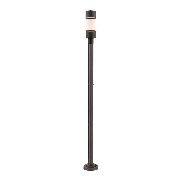 Z-lite Z-Lite Luminata Outdoor Post Light - Mounted Fixture - Deep Bronze 560PHB-567P-DBZ-LED