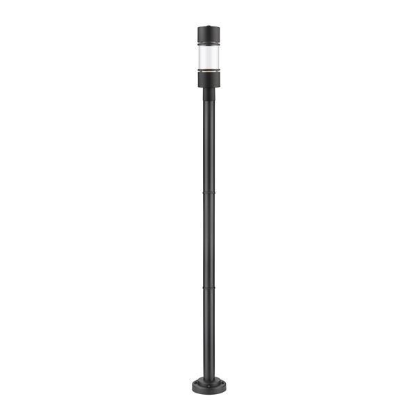 Z-lite Z-Lite Luminata Outdoor Post Light - Mounted Fixture - Matte Black 553PHB-567P-BK-LED