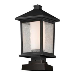 Luminaire extérieur sur socle Mesa, 1 lumière, bronze huilé