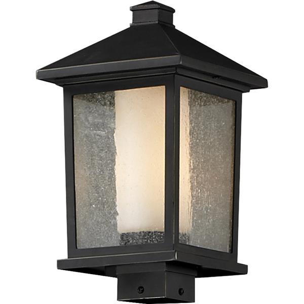 Z-lite Z-Lite Mesa Outdoor Posthead Light - Oil Rubbed Bronze - 9.5-in x 17-in 538PHB-ORB