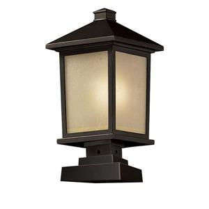 Luminaire extérieur sur socle Holbrook, bronze huilé