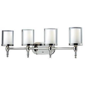 Z-Lite Argenta Bathroom Vanity Light - 4-Light - Chrome