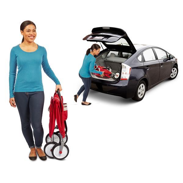 Chariot pliable 3-en-1 pour enfant, rouge