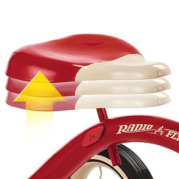 Tricycle classique à double marche, rouge