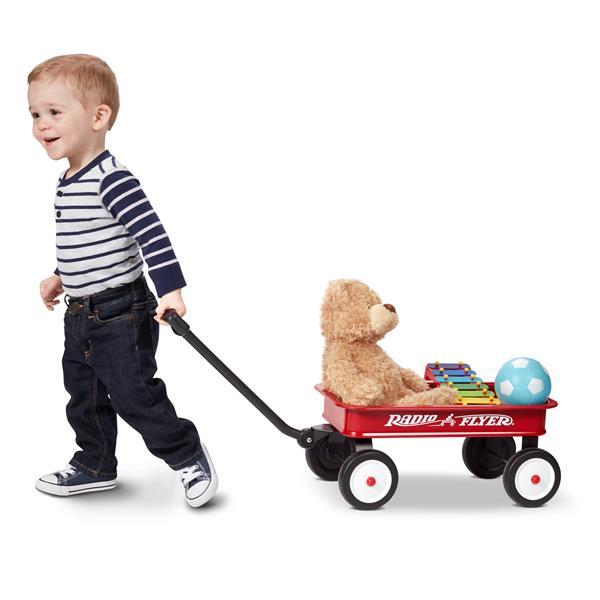 Chariot à plateforme pour enfant, rouge