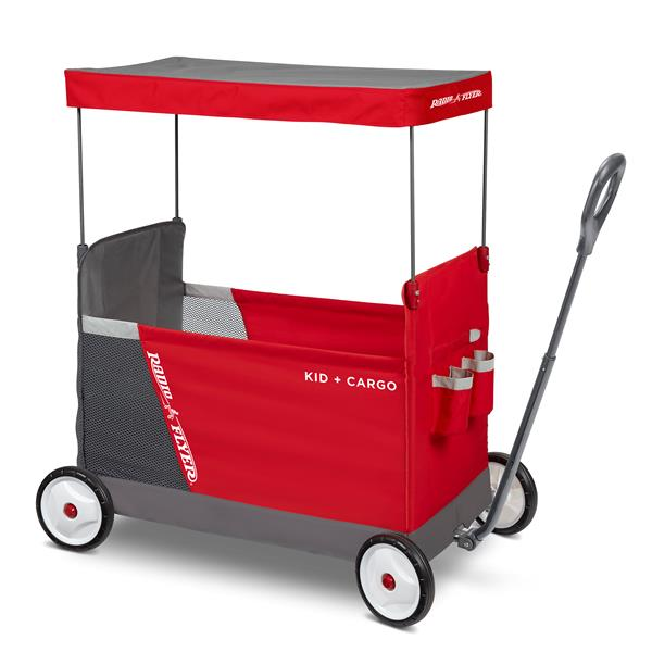 Radio Flyer Kid Cargo Wagon - Removable Canopy - Red