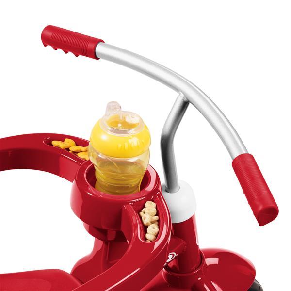 Poussette tricycle 4-en-1 pour enfant, rouge
