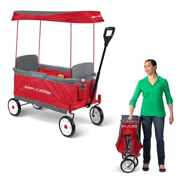Radio Flyer Ultimate Fold Wagon - Removable Canopy - Red