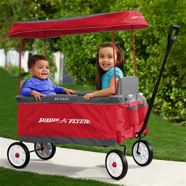 Radio Flyer Ultimate Fold Wagon Removable Canopy Red