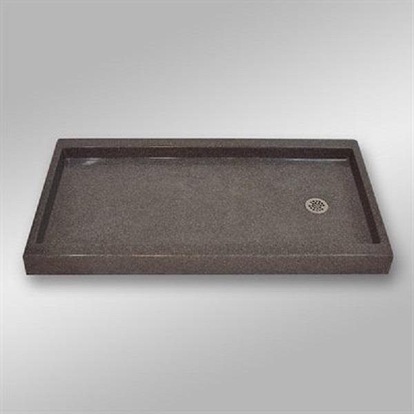 The Marble Factory Shower Base with Right-Hand Offset Drain - 60-in x 32-in - Mystique