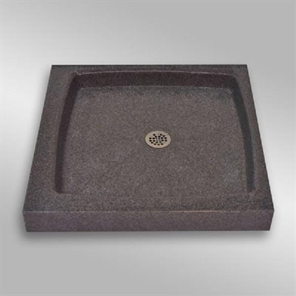 The Marble Factory Single Shower Base with Centre Drain - 32-in x 32-in - Mystique