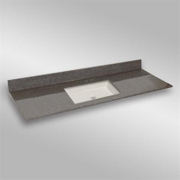 61 pox 22 po Dessus de meuble-lavabo carré, pierre carioca