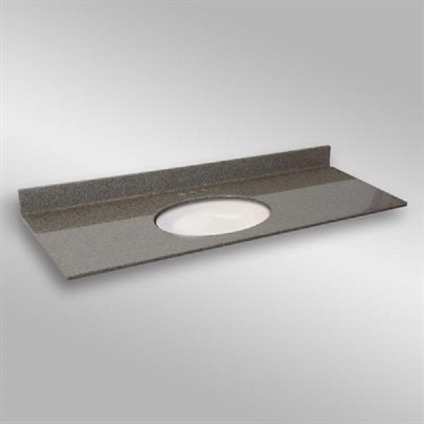 61 pox 22 po Dessus de meuble-lavabo ovale sous-monté ovale, pierre carioca