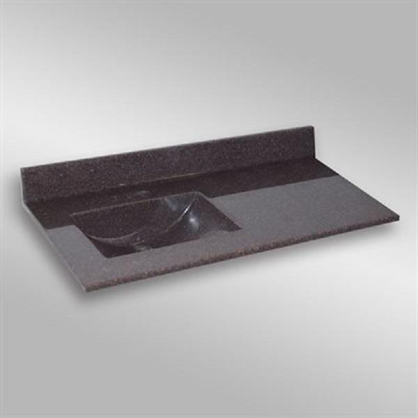 The Marble Factory 49-in x 22-in Bathroom Vanity Top with Integral Sink - Espresso