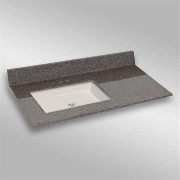 The Marble Factory 37-in x 22-in Bathroom Vanity Top with Undermount Sink - Carioca Stone