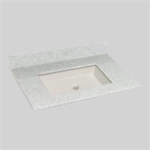 37 pox 22 po Dessus de meuble-lavabo avec bassin sous-monté, brume de willow