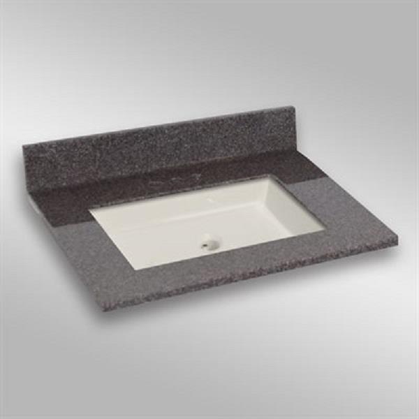 31 pox 22 po Dessus de meuble-lavabo carré, mystique