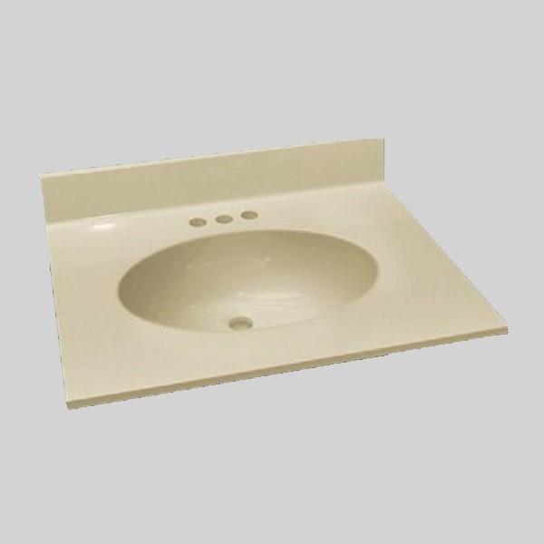 The Marble Factory 31 In X 22 In Bathroom Vanity Top With Integral Sink Solid Bone Rona