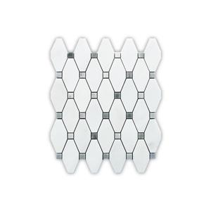 Mable Tile - White Octagon Pattern - 5/Box - 12
